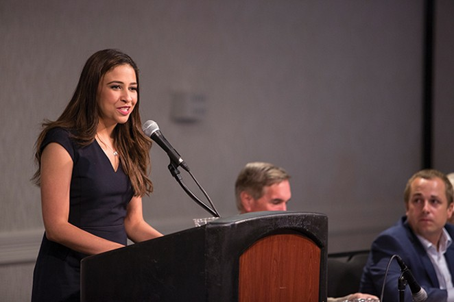 Harold is already campaigning energetically. Can she win over suburban women? African-American voters? - PHOTO COURTESY CITIZENS FOR ERIKA HAROLD