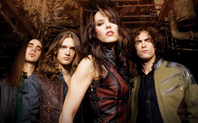 Halestorm performs at the Illinois State Fair grandstand Aug. 11.