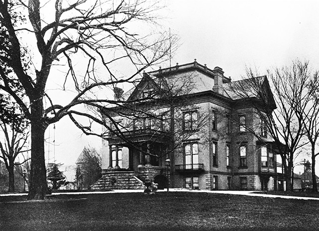 The Governor's Mansion, completed in 1855, had already undergone several renovations by the time this photgraph was taken around 1890. - PHOTOS COURTESY SANGAMON VALLEY COLLECTION, LINCOLN LIBRARY