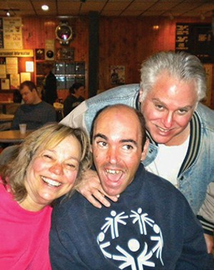 Keith Drazner, center, with his parents, Sharon and Frederick. - PHOTO COURTESY SHARON DRAZNER