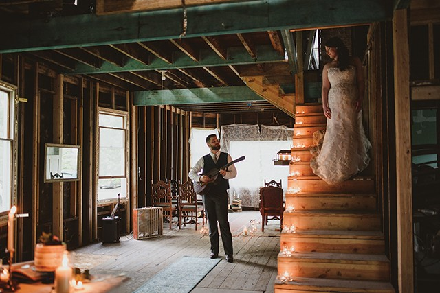 """Stephen Barbee and Keshia Dotson decided to get married in the """"Barbee Dream House"""" that they are in the process of renovating. - PHOTO BY NICOLE GRAY PHOTOGRAPHY"""