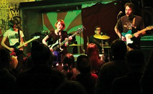 Looming performs onstage at Black Sheep. Left to right:  Mitch Baker, Jessica Knight, Brandon Carnes,  Jordan Fein. - PHOTOS BY PATRICK YEAGLE