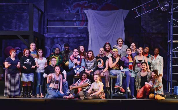 The cast of the Muni's Rent. - PHOTO BY DONNA LOUNSBERRY