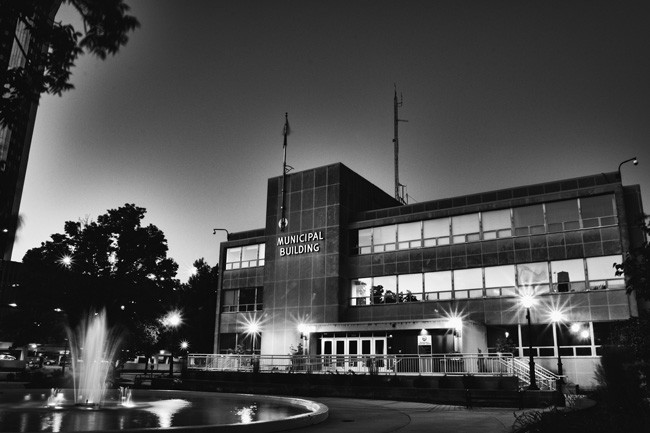 Time exposure of Trutter's Municipal Building West by Springfield photographer Karl Vogl. - PHOTO BY KARL VOGL