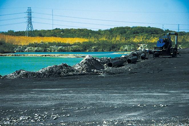 CWLP coal ash pit. - PHOTO BY PATRICK YEAGLE