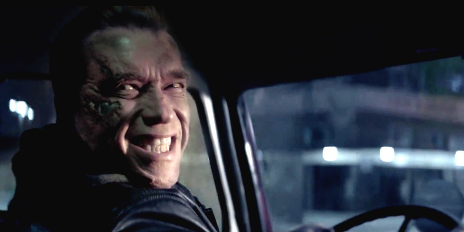 """The T-800 (Arnold Schwarzenegger) does his best to fit in, in """"Terminator Genisys."""" - COURTESY PARAMOUNT PICTURES"""