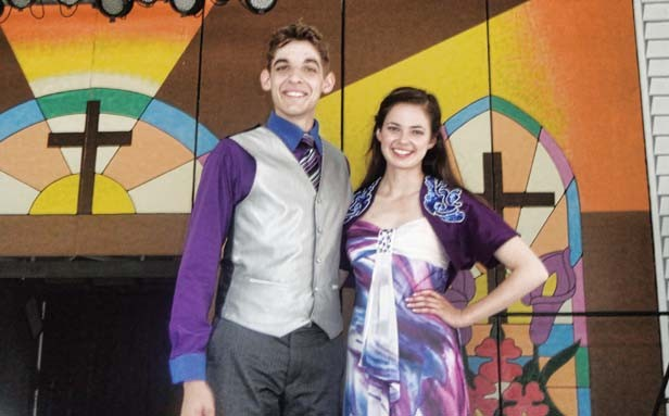 Trevor May and Amy Pfluger after a performance. - PHOTO BY CINDY LADAGE