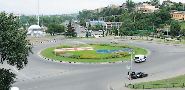 A roundabout requires drivers to pay attention.