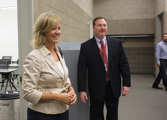 Ives during a campaign appearance at the College of DuPage Glen Ellyn campus to celebrate the opening of the college's Homeland Security Training Center. Ives is a supporter of President Donald Trump and criticizes Gov. Bruce Rauner for his lack of - PHOTO COURTESY OF COD NEWSROOM