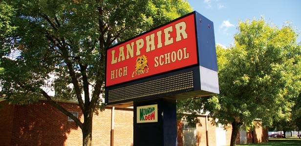 The feasibility committee ruled out any option that would eliminate the north side's pride, Lanphier High School. - PHOTO BY DAVE HINE