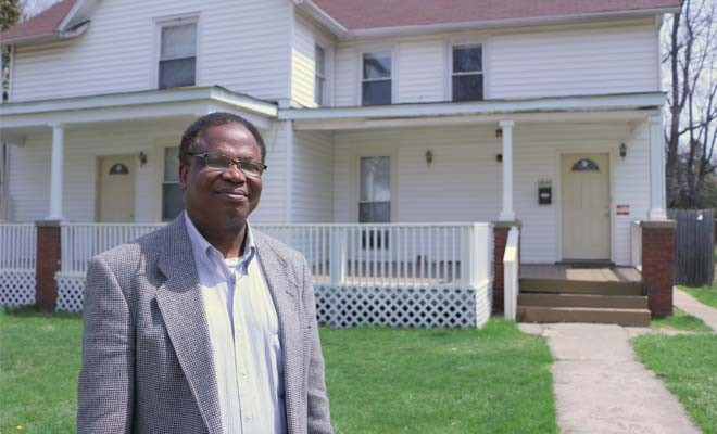 Jeremiah Elugbadebo of Springfield runs Joyce's Community Home for Adults, three houses for people with mental and physical disabilities. The houses have been cited several times for alleged violations by city building inspectors, but Elugbadebo sa - PHOTO BY PATRICK YEAGLE