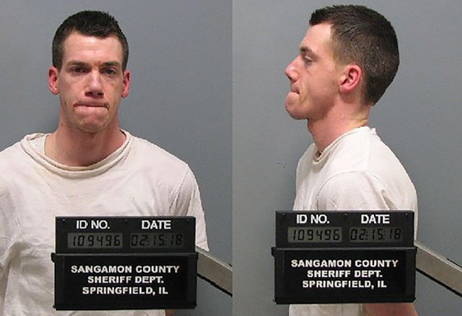 Justin Callarman was charged with drug-induced homicide in December. - PHOTO COURTESY SANGAMON COUNTY SHERIFF'S OFFICE