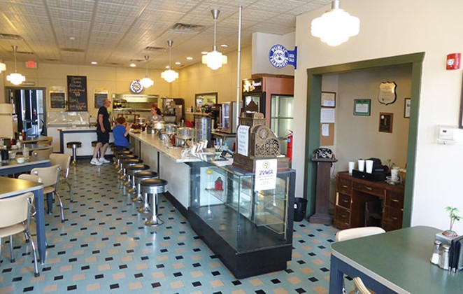 The Palms Grill Cafe in Atlanta, Illinois, serves blue plate specials, fountain treats, desserts and plenty of nostalgia on the state's portion of Route 66. - PHOTO BY BRENT BOHLEN