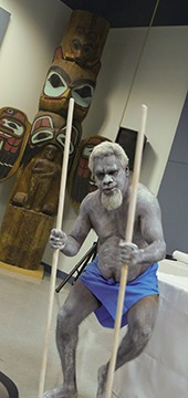 Robert Wiggan (Bardi Jawi) performing the Spirit Dance to celebrate the artifacts returning home. - PHOTO BY AMANDA BRYDEN