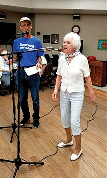 "Dennis Darling and Barb Grissom doing ""Wake Up Little Susie."" - PHOTOS BY RUTHIE GORSEK."