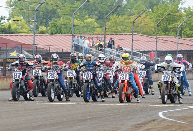 Held twice a year, the Springfield Mile draws the top riders from across the nation to the dirt track at the Illinois State Fairgrounds. - PHOTO BY TREVOR MILLER