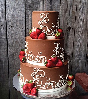 More couples are branching out from traditional white wedding cakes and emphasizing interesting flavors. - PHOTO COURTESY INCREDIBLY DELICIOUS