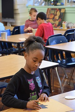 Diversity rules at DuBois Elementary School, where black students make up 51 percent of the student body while white students make up 32 percent and students who identify as two or more races make up another 13 percent. - PHOTO BY DAVID BLANCHETTE