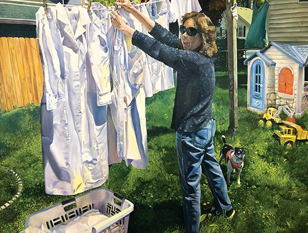 """""""Motherhood: Hanging Out the Clothes,"""" by Al Shull, Springfield, is one of the award winners in this year's show."""