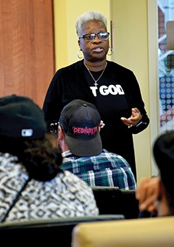 Marcella Kincaid told summit participants of her 25-year fight to clear her criminal record. - PHOTO BY DAVID BLANCHETTE