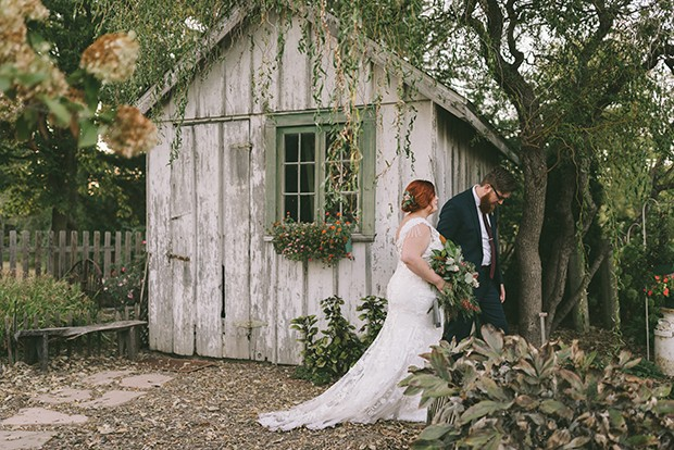 Kennedy Gray and Phillip Colburn used string lights, area rugs and vintage furniture to decorate for their reception at The Farm in Petersburg. - PHOTO BY GRAY PHOTOGRAPHY COMPANY