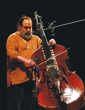 Mark Deutsch plays his one-of-kind, patented Bazantar, Thursday night, Nov. 7, at the Pharmacy Gallery and Art Space.