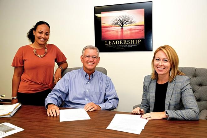 Building Board Diversity organizers Raychel Yokem, John Kelker and Sarah Tapscott - PHOTOS BY DAVID BLANCHETTE