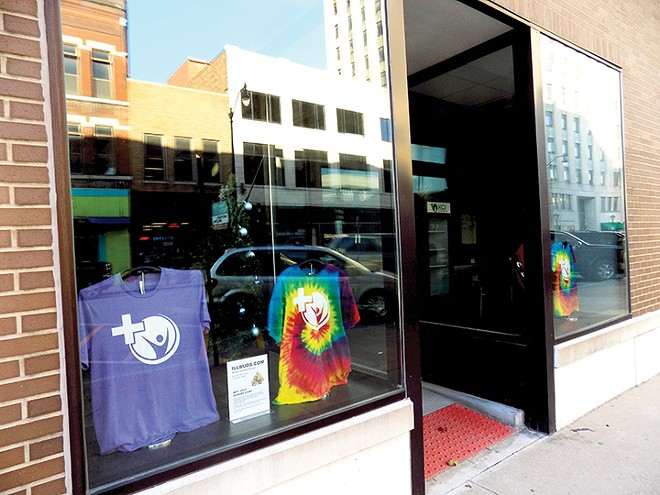 The downtown storefront where Ascend is seeking permission to sell recreational pot and allow onsite consumption. - PHOTO BY BRUCE RUSHTON