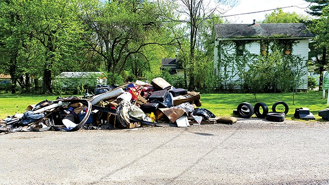 Garbage collected from alleys and vacant lots in Enos Park during SIU School of Medicine's annual Day of Service.