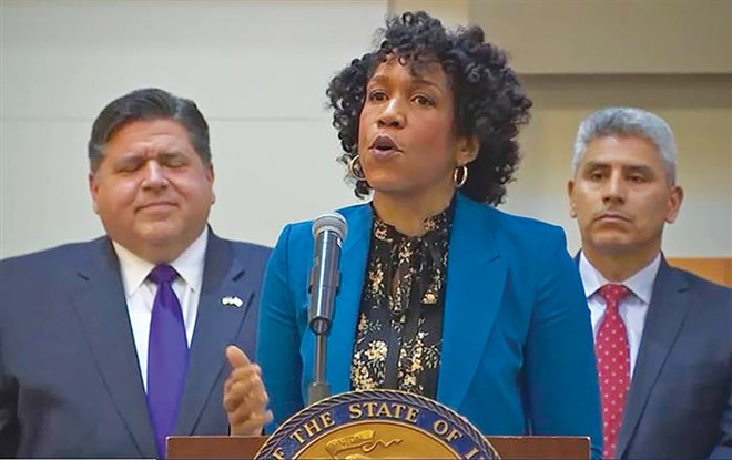 Lt. Gov. Juliana Stratton speaks at Kennedy-King College in Chicago on Thursday, Jan. 9, about criminal justice reforms the governor's administration will champion during the 2020 legislative session. - PHOTO COURTESY ILLINOIS.GOV