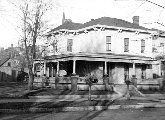 The Rosenwald home on Eighth Street as it looked in an earlier Library of Congress photo (above), and as it looks today. - PHOTO COURTESY LIBRARY OF CONGRESS