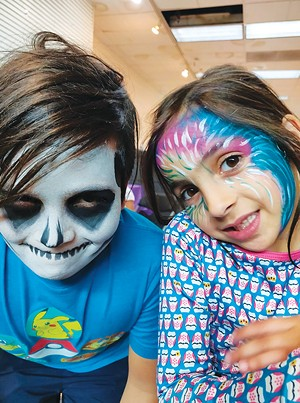 Kids' face painting is a common activity at - The Rainbow Room. - PHOTO COURTESY THE RAINBOW ROOM