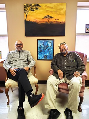 Charles E. Scott (left) and John Crisp Jr. in their office at First Presbyterian Church. - PHOTOS BY RACHEL OTWELL