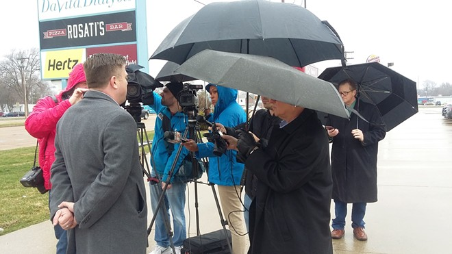 Memorial says it was following Centers For Disease Control guidelines when it scheduled a live press event to talk about the drive-through clinic. - PHOTO BY BRUCE RUSHTON