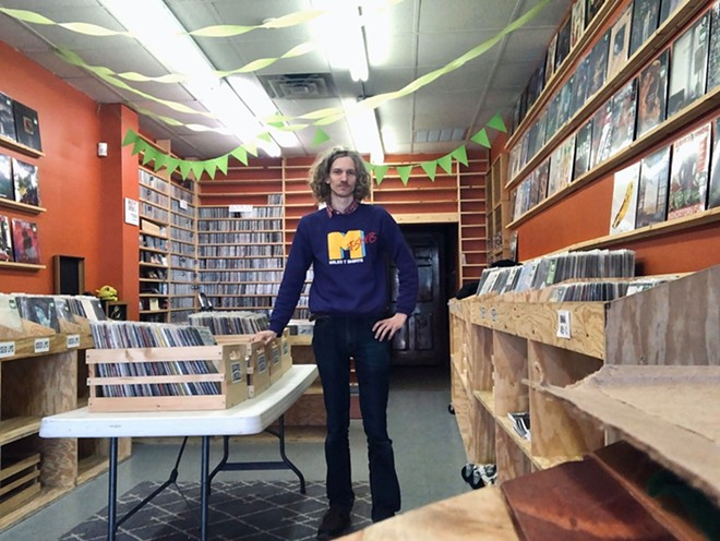 Dumb Records owner Brian Galecki in his store. - COURTESY OF BRIAN GALECKI