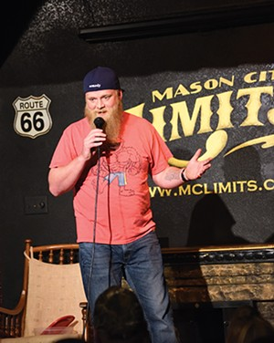 Stand-up comedian Jeff Tolbert - performing at Mason City Limits. - PHOTO NICOLE TOLBERT