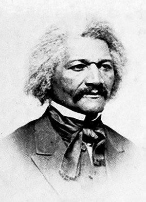 Frederick Douglass, photographed by William Emery Bowman in Ottawa, Illinois, in April 1866, not long after his appearance in Springfield. He was 48. - ILLINOIS STATE HISTORICAL SOCIETY