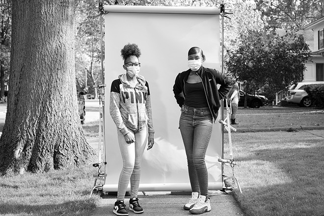 Friends Nakiya Crawford, left, and Nia Davis. - PHOTO BY RICH SAAL