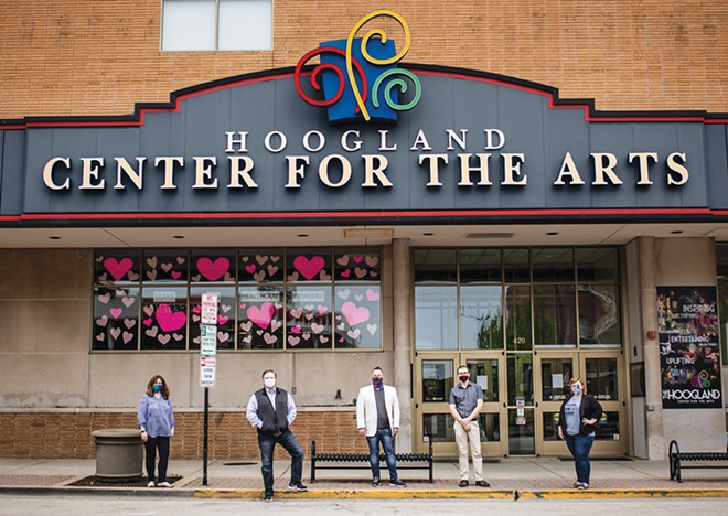 Hoogland Center for the Arts staff, executive director Gus Gordon is second from left. - PHOTO BY KRISTI MITCHELL PHOTOGRAPHY