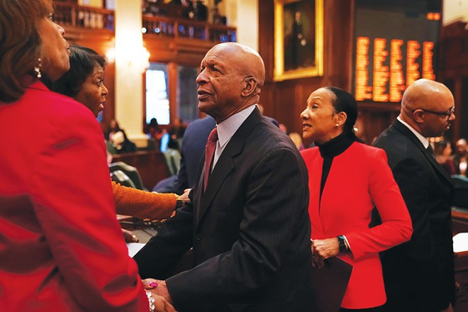 "Shortly after he was first elected, Jesse White hired Candace Wanzo (not pictured) as a private secretary, even though she had pleaded guilty eight years earlier to embezzling more than $233,000 from Southern Illinois University and failed to repay the money. Three years ago, the inspector general's office discovered numerous improprieties with her office. Despite claiming to be ""highly offended by the alleged actions of Ms. Wanzo,"" the secretary of state has fought to keep secret files describing Wanzo's suspected misconduct. - PHOTO BY E. JASON WAMBSGANS / CHICAGO TRIBUNE"