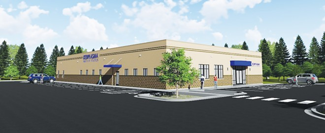 KEDPLASMA USA announced earlier this year it plans to construct an 11,900-square-foot building on North Grand Avenue just east of Davita Dialysis. - PHOTO COURTESY OF CASLER DESIGN GROUP - PHOTO COURTESY OF CASLER DESIGN GROUP