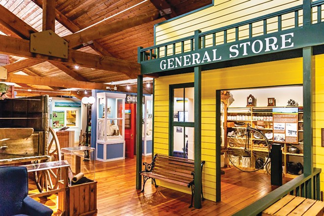 The Grand Prairie Museum in Mahomet takes guests on a tour through early Illinois history with displays on pioneers, Native Americans, blacksmithing and one-room schooling. - PHOTO BY SCOTT WELLS.