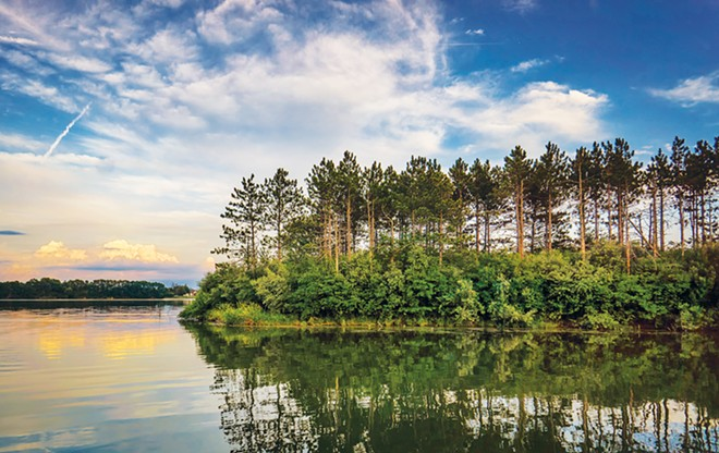 Comlara County Park includes the 900-acre Evergreen Lake, fishing, trails and campsites for visitors to the Bloomington-Normal area. - PHOTO COURTESY OF THE BLOOMINGTON-NORMAL AREA CONVENTION AND VISITORS BUREAU.