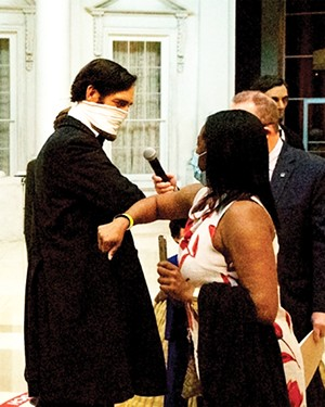 On July 9, Abraham Lincoln welcomed Regina Padgett of Orlando, Florida, as the five millionth visitor to the Abraham Lincoln Presidential Museum. To honor the occasion, Padgett received a family membership in the presidential library's foundation and $150 worth of gifts. - PHOTO COURTESY ALPLM