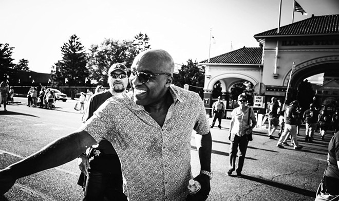 Illinois Attorney General Kwame Raoul interacts with parade-goers during the opening of the 2019 Illinois State Fair. - PHOTO BY ZACH ADAMS, 1221 PHOTOGRAPHY