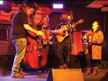 Johnny Lawhorn and the Pentagram String Band play on Adams Street in front of Buzz Bomb Brewing Co. this Thursday night.