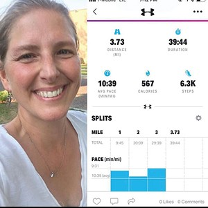 Author Lana Shovlin uses the Map My Walk app to track her distance and time.