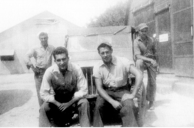 Ed Sathoff, seated right, in Leyte, Philippines, where he served under General Douglas MacArthur in 1944. - PHOTOS COURTESY ED SATHOFF
