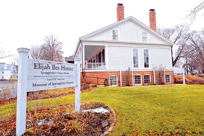 The historic Elijah Iles House at Seventh and Cook streets may soon become part of the Lincoln Home National Historic Site. - PHOTO BY DAVID BLANCHETTE