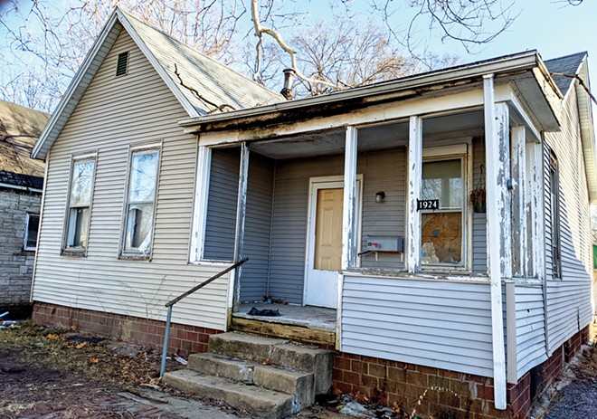 The Springfield City Council has approved the purchase of four uninhabitable homes with histories of code violations for more than $100,000. The purchase price for this one is $20,800.
